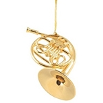 French Horn Ornament 5""