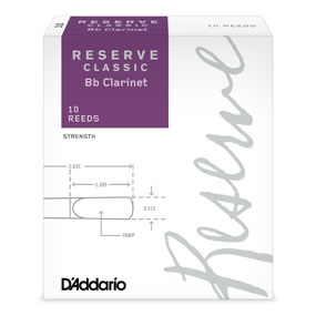 D'Addario Reserve Classic Bb Clarinet Reeds, Box of 10