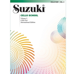 Suzuki Cello School Cello Part, Volume 3