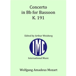 Concerto in Bb for Bassoon, Mozart
